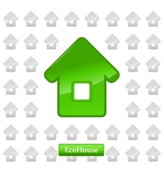 Ecohouse background vector