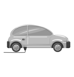 Electro car icon gray monochrome style vector