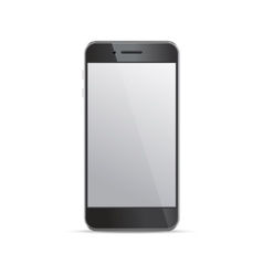 Empty screen smartphone template on white vector image