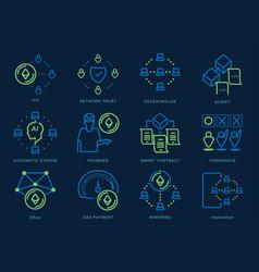Ethereum coin icon vector