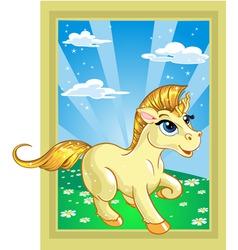 fabulous unicorn vector image