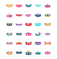 face mask flat icons vector image