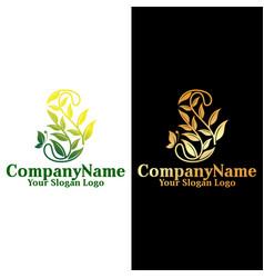 feminine logo letter s vector image