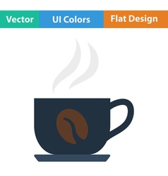 Flat design icon of Coffee cup vector image