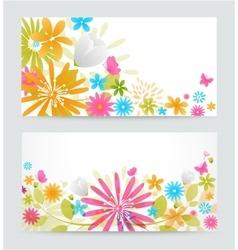 Fresh floral banner vector