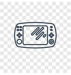 game console concept linear icon isolated on vector image