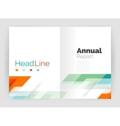 Geometric business annual report templates modern vector