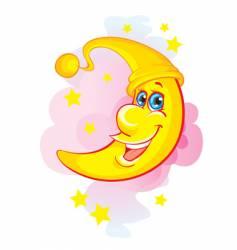 Happy moon vector