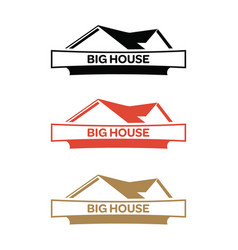 house-logo vector image