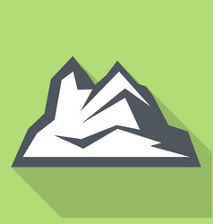 ice mountain icon flat style vector image