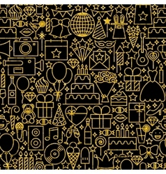 Line Gold Black Birthday Tile Pattern vector