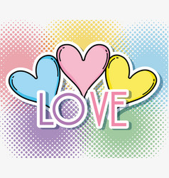 Love pop art vector