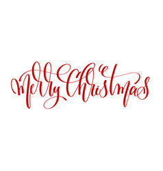 Merry christmas - red hand lettering inscription vector