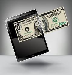 Money with a touch pad vector