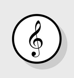 Music violin clef sign g-clef treble clef vector