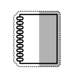 Note book library isolated icon vector
