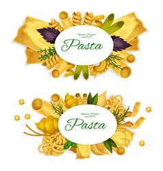 Pasta spaghetti ravioli and lasagna vector