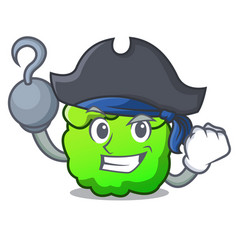pirate shrub character cartoon style vector image