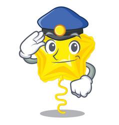 Police star balloon was flown mascot sky vector