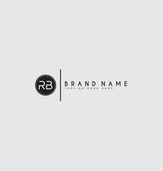 Rb minimal logo - initial letter logo vector