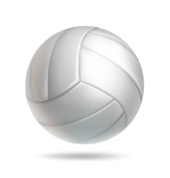 Realistic white volleyball ball object vector