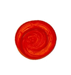 red circle as painted with brush vector image