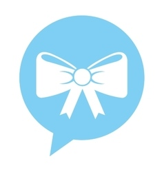 Ribbon bow isolated icon vector