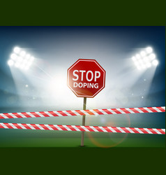 Road sign with stop doping vector