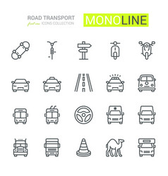 Road transport icons vector