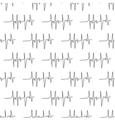 Seamless pattern made from electrocardiograms vector