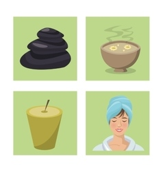 set spa center massage aromatherapy vector image