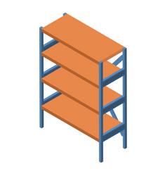 Shelf icon isometric style vector