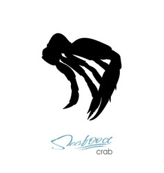 silhouette crab meat crab badge for design vector image