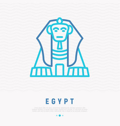 Sphinx thin line icon vector