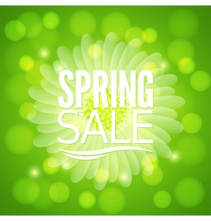 Spring flower sale design background vector