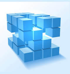 Stacked block cubes vector
