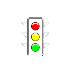 stoplight sign vector image