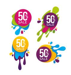 super sale collection bright discount bubble vector image