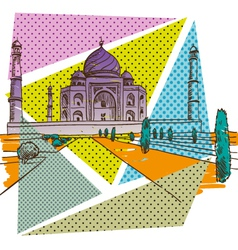 Taj Mahal drawing vector