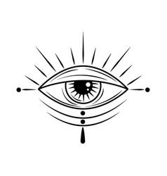 Tattoo eye minimalist vector