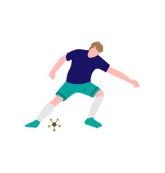 the player is focused on hitting the ball vector image