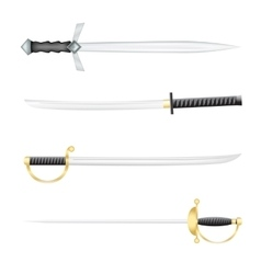 The swords vector image