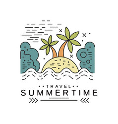Travel summertime logo design summer vacation vector
