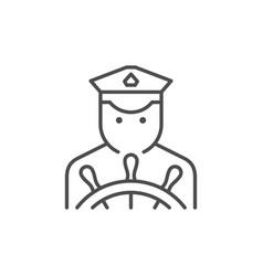 vessel captain line outline icon vector image