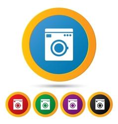 Washing machine icons Wash machine symbol vector image