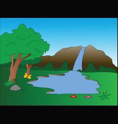 waterfall vector image