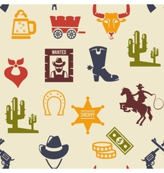Western and rodeo seamless background pattern vector