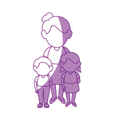 Women with kids vector