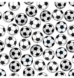 Football game seamless pattern with soccer balls vector image