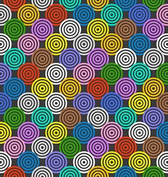 Abstract seamless background of color circles vector image vector image